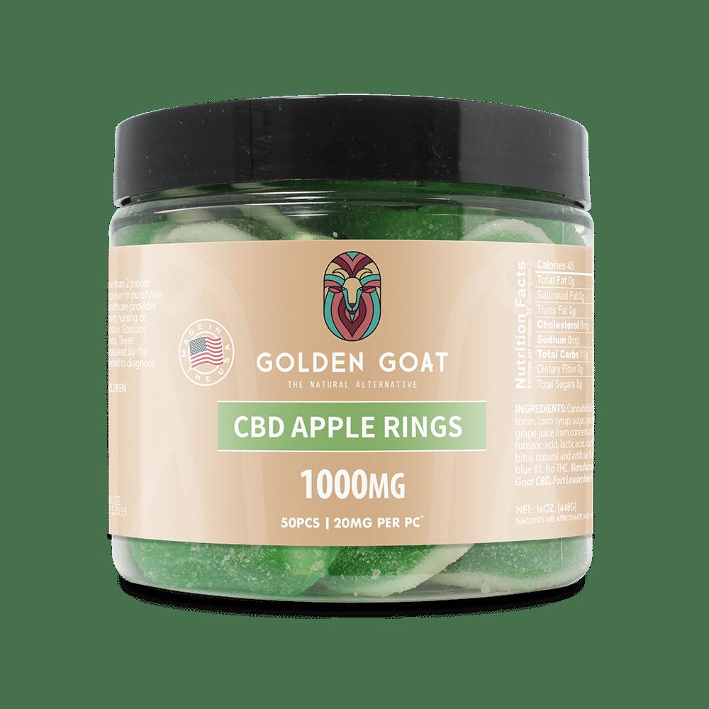 CBD Apple Rings - 1000mg