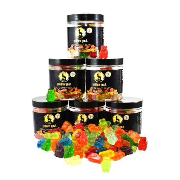 DSC 0003 - Fruit Bear gummies infused with premium quality cannabidiol (CBD). Delicious, Fruity, Chewy, Soft & Sweet. THC Free. Gluten Free. Total of 500mg of CBD per 8oz. Jar <em>These gummies contain melatonin to aid with sleep. Try our Gummy Fruit Worms for a melatonin-free option.</em>