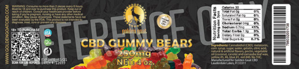 GG GUMMY JARS watermarked 250mg lrz - Fruit Bear gummies infused with premium quality cannabidiol (CBD). Delicious, Fruity, Chewy, Soft & Sweet. THC Free. Gluten Free. Total of 250mg of CBD per 4oz. Jar <em>These gummies contain melatonin to aid with sleep. Try our Gummy Fruit Worms for a melatonin-free option.</em>