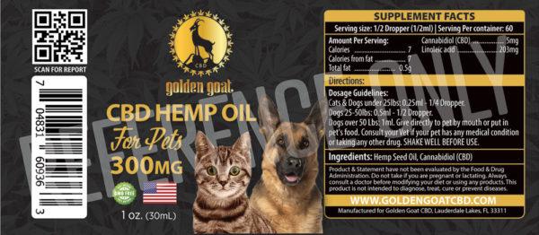 GG HEMP OIL EXTRACT PETS 300mg lrz -