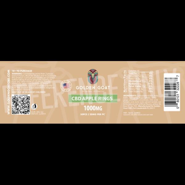 CBD Apple Rings - 1000mg - Label