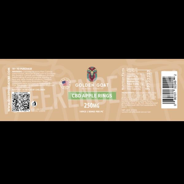 CBD Apple Rings - 250mg - Label