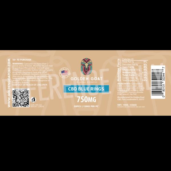 CBD Blu Rings - 750mg - Label