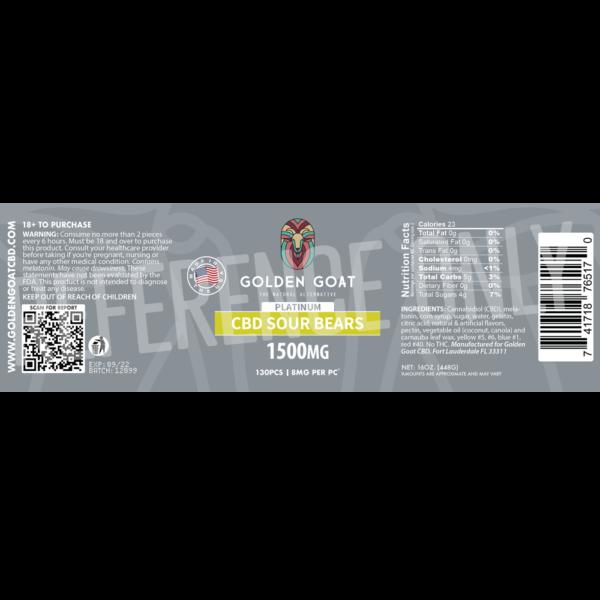 CBD Sour Bears - 1500mg - Label