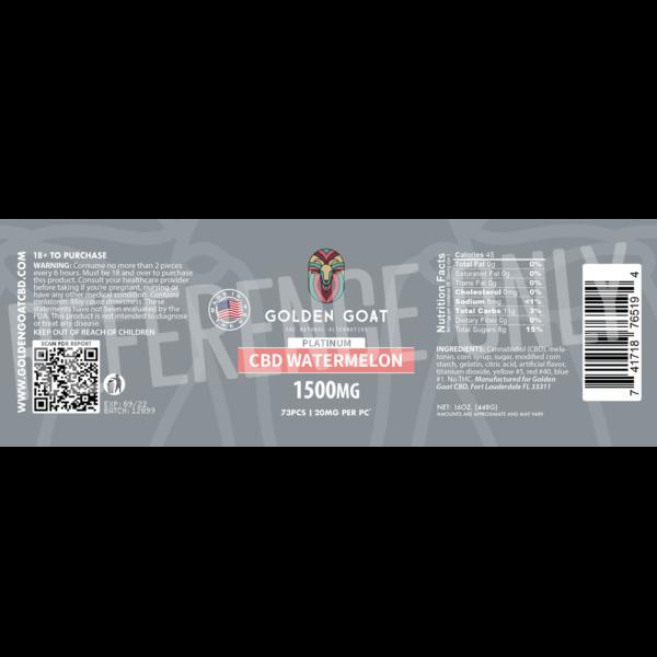 CBD Watermelon - 1500mg - Label