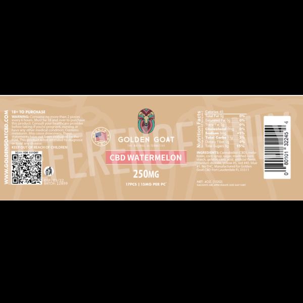 CBD Watermelon - 250mg - Label