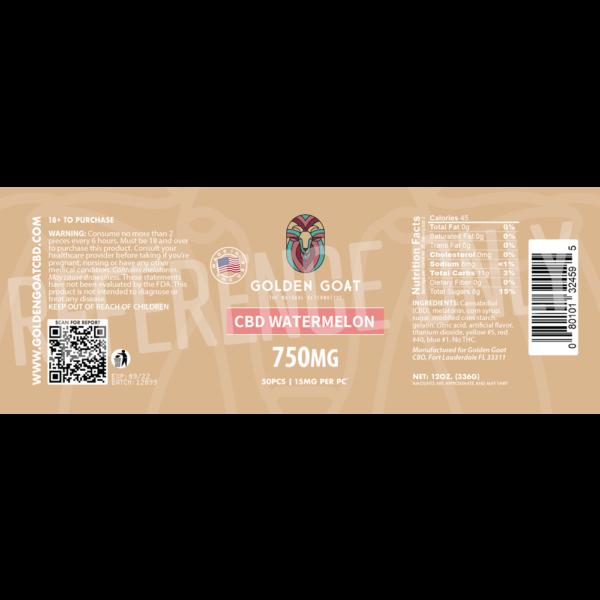 CBD Watermelon - 750mg - Label