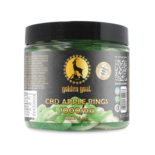 CBD Gummies - 1000mg - Apple Rings