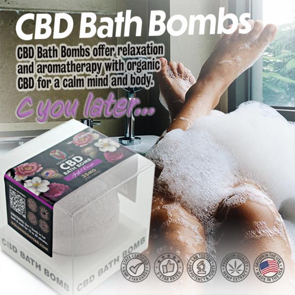 CBD Bath Bomb - 35mg - Joyful Escape