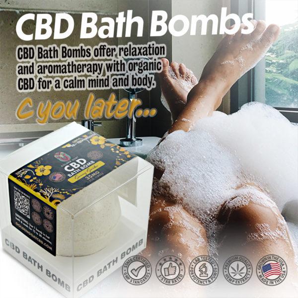 CBD Bath Bomb - 35mg - Sunny Garden