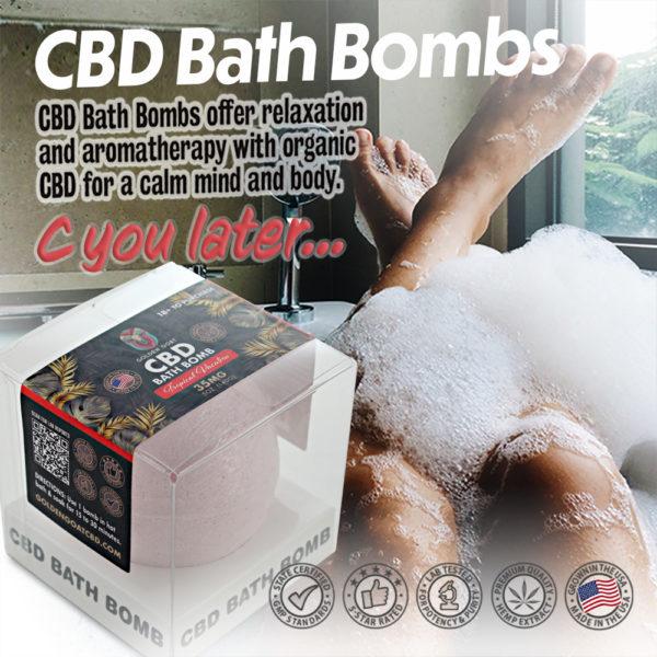 CBD Bath Bomb - 35mg - Tropical Vaction