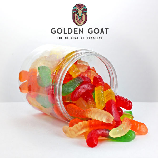 CBD Gummy Worms - Open Jar