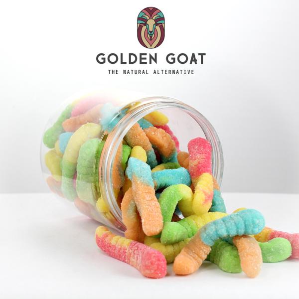 CBD Sour Worms - Open Jar