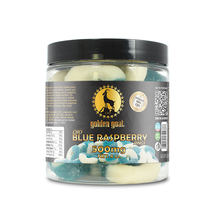 CBD Blue Raspberry Rings - 500mg