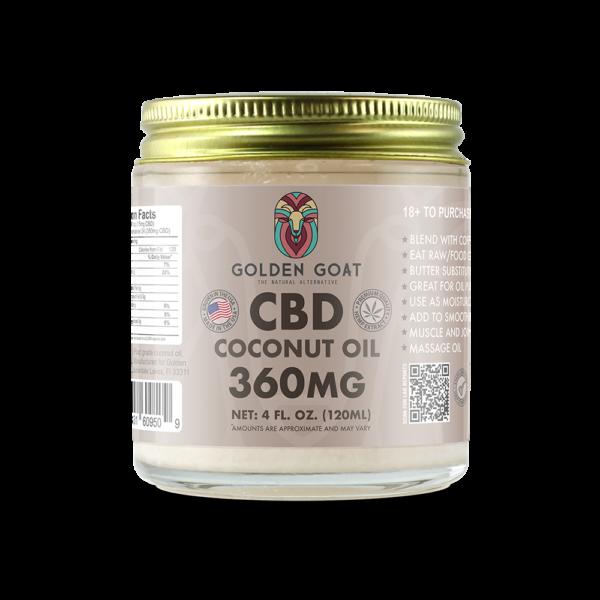 CBD Coconut Oil - 360mg - Food Grade