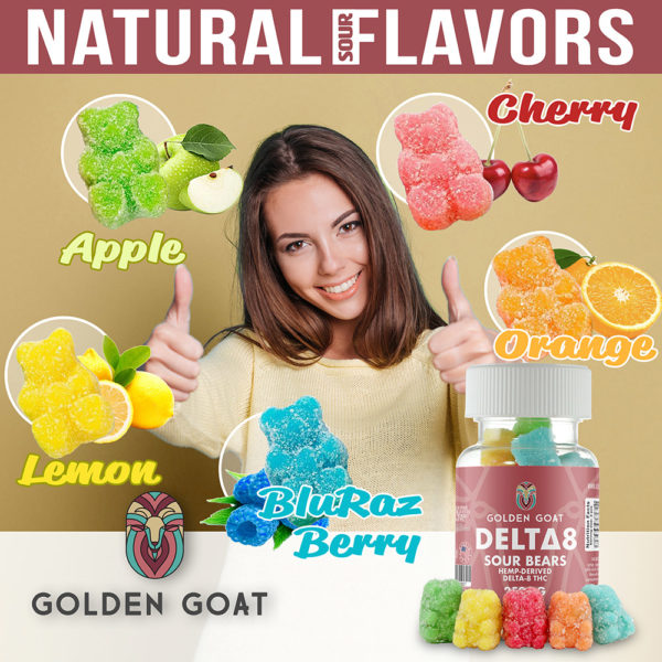 """gg d8 slide flavors lrz - <div> Our delicious gummies are infused with 250mg of Delta 8 THC per jar and may provide a therapeutic, cannabis-like effect. Derived from legal hemp, delta-8 THC has been reported to provide a feeling of relaxation, increased appetite, and a sense of well being.** Delta 8 products convert to potency through digestion, vaping and smoking. <div style=""""font-size: 12px; margin-top: 2em;""""><em>*This product contains a total delta-9 tetrahydrocannabinol concentration that does not exceed 0.3% on a dry-weight basis. Do not use if you are pregnant or may become pregnant, lactating, suffering from a medical condition[s], or taking other medication[s]. Consult a licensed healthcare professional if breastfeeding. Keep out of reach of children and animals. This product can impair your ability to drive a vehicle or operate machinery.</em> <em>**These statements have not been evaluated by the FDA. This product is not intended to diagnose, treat or cure any illness. Do not use this product if you are likely to take a test for THC. †Count is approximate. Results may vary. PLEASE SEE WARNINGS AND LEGALITIES BELOW</em></div> <div style=""""font-size: 12px; margin-top: 3em;""""> <h5>WARNING:</h5> <em>USE RESPONSIBLY. DO NOT DRIVE OR OPERATE ANY MACHINERY WHILE USING THIS PRODUCT. DO NOT TAKE MORE THAN THE AMOUNT RECOMMENDED BY YOUR DOCTOR.</em> Consult a physician before using this product. Do not use if pregnant, nursing, or if you have any diagnosed or undiagnosed health conditions. Must be 21 years or older to purchase or use. Delta 8 may affect blood pressure, heart rate, and/or intraocular pressure in some people. If you have any known or unknown heart, blood pressure, eye, eye pressure, or similar/related issues, do not use this product unless recommended by a doctor. <h5>LEGALITIES:</h5> Hemp-derived Delta 8 is legal according to federal law and many state laws. Our Delta 8 extract is 100% derived from legal hemp and does not contain more than 0.3% delta 9 """