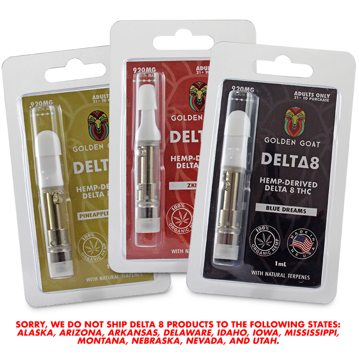 Delta-8 Vape Cartridges - 920mg