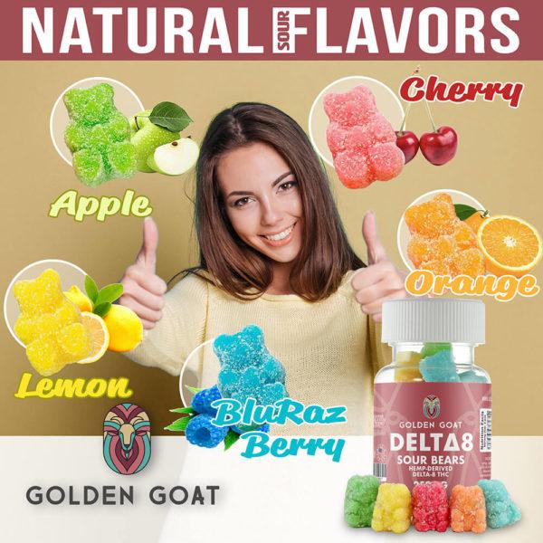 Delta-8 Gummies, 500mg Flavours
