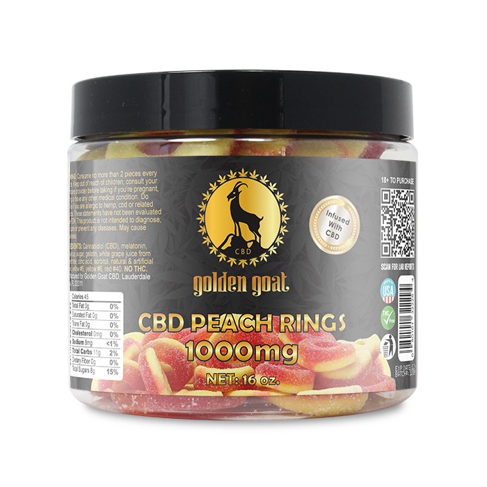 CBD Peach Rings - 1000mg