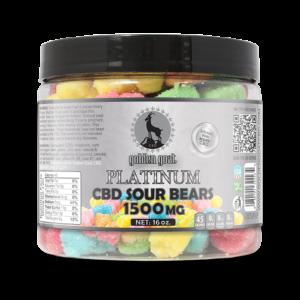 Platinum CBD Sour Bears - 1500mg