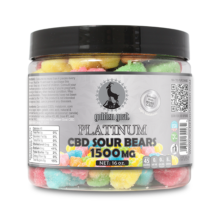 Platinum CBD Sour Bears - 1500mg