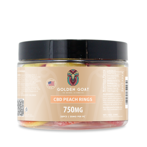 CBD Peach Rings - 750mg