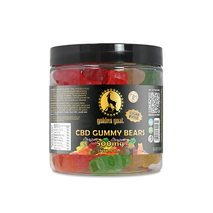 CBD Sugar Free Gummy Bears - 500mg