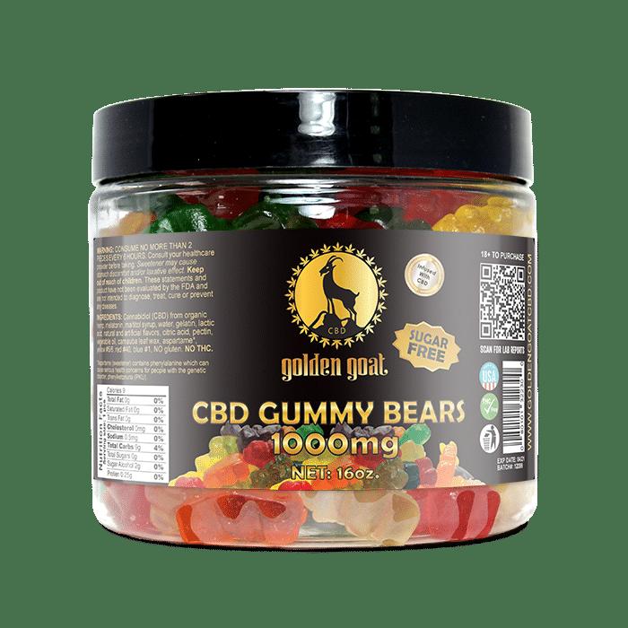 CBD Sugar Free Gummy Bears - 1000mg