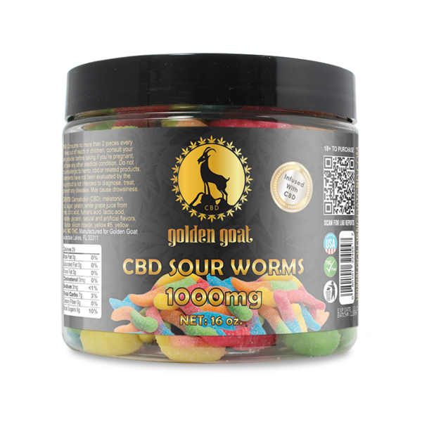 CBD Gummies - 1000mg - Sour Worms