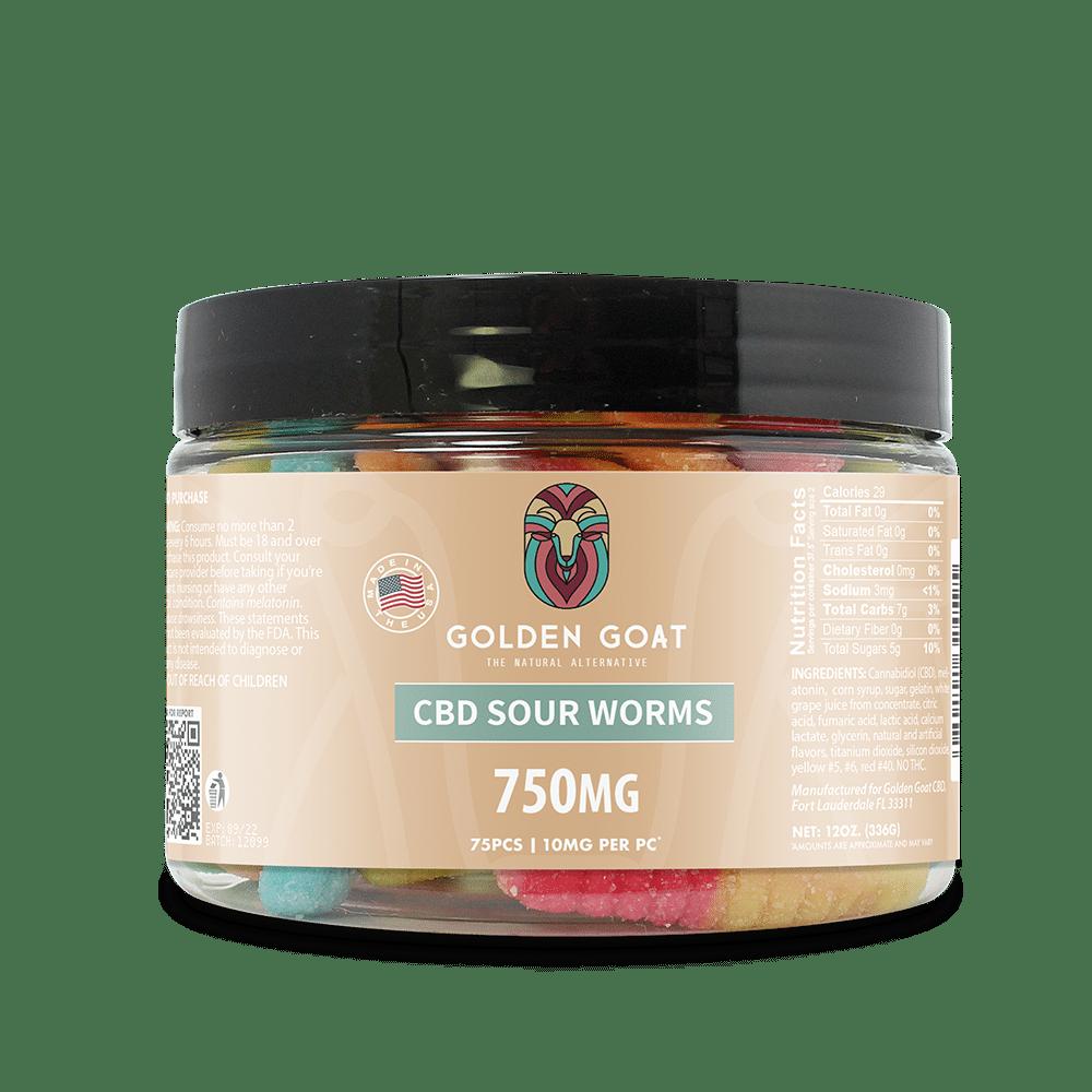 CBD Sour Worms - 750mg
