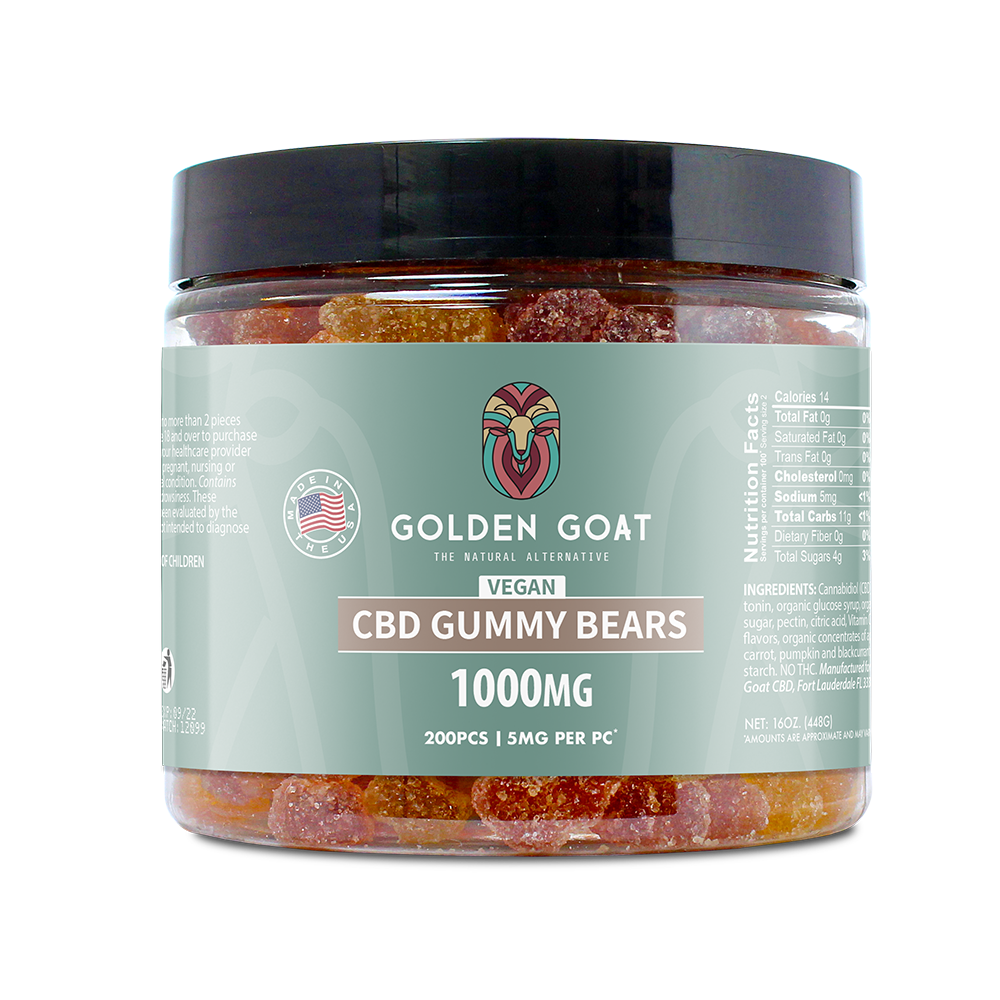 Vegan CBD Fruit Bears - 1000mg