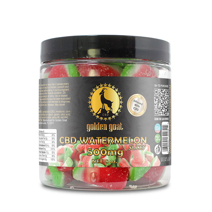 CBD Gummies - 500mg - Watermelon Slices