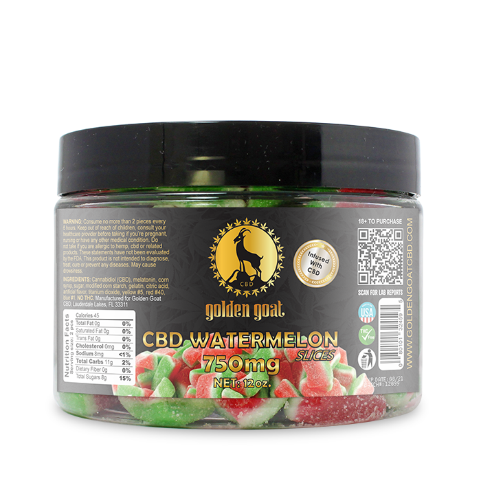 CBD Gummies - 750mg - Watermelon Slices
