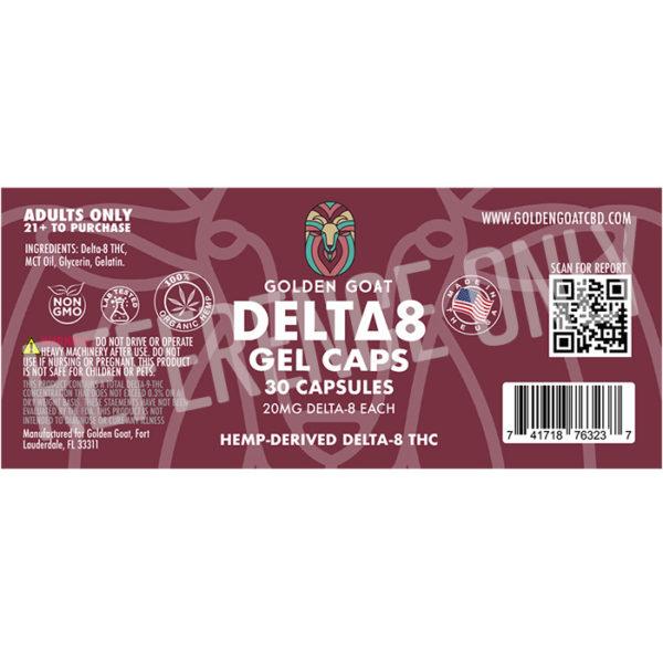 Delta 8 Gel Capsules - 600mg - Label