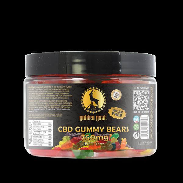 CBD Gummies - 750mg - Sugar Free Gummy Bears