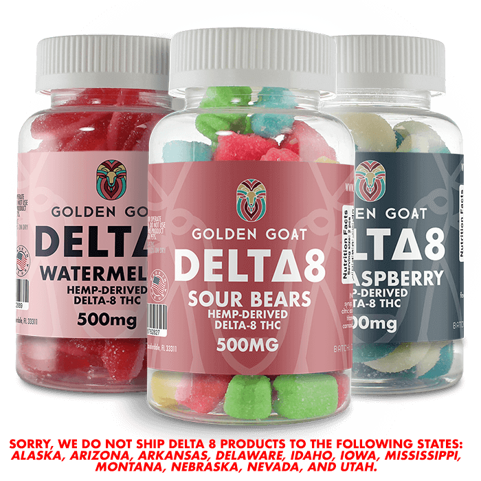 Delta-8 Gummies - 500mg all flavors 500mg grouped