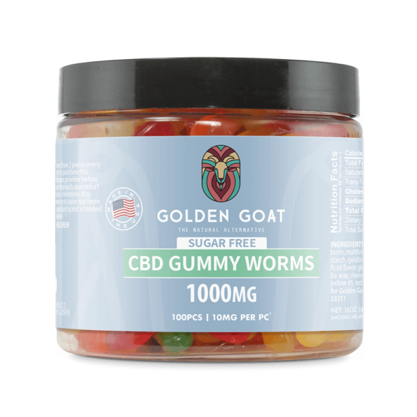 Sugar-Free CBD Gummy Fruit Worms