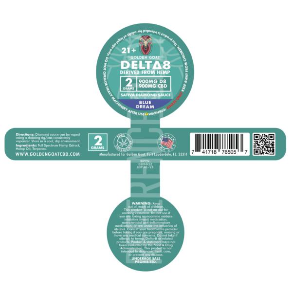 Blue Dream Diamond Sauce Dabbing Wax - 1800mg