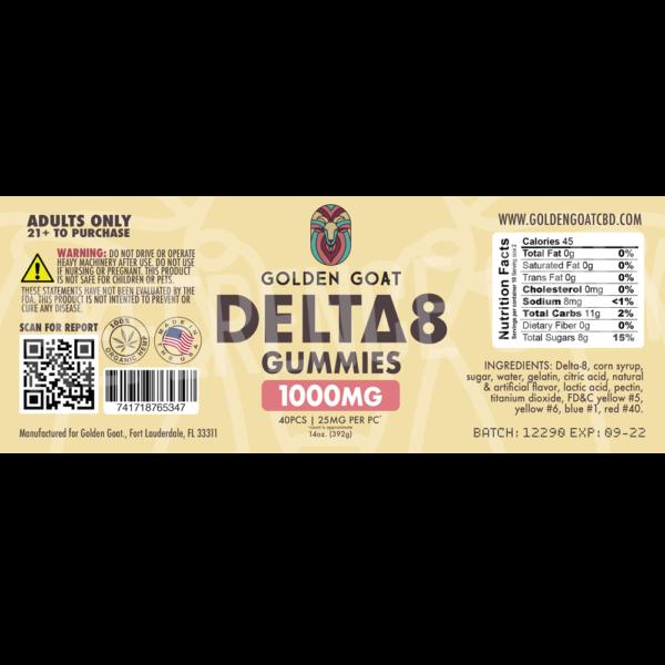Delta-8 Peach Rings - 1000mg - 16oz - Label