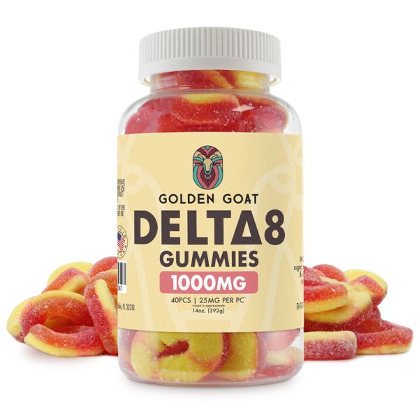 Delta-8 THC Peach Rings - 1000mg - 16oz
