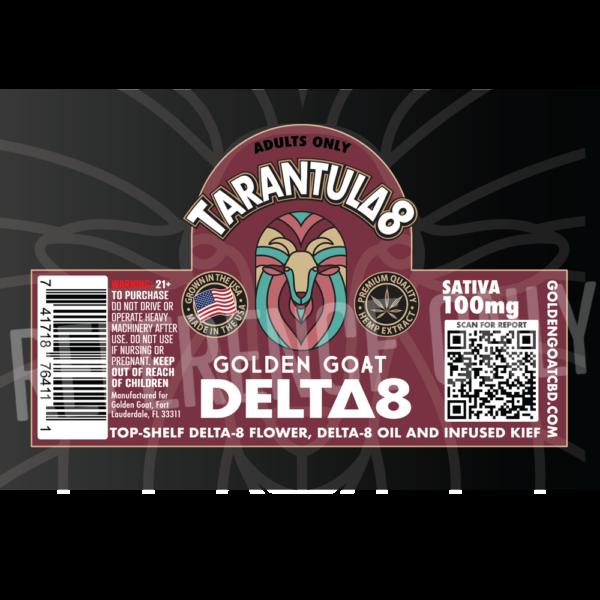 Delta-8 THC Tarantula Kief Doobie - 2g - 100mg - Sativa