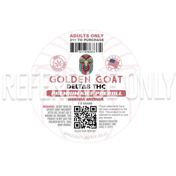 Delta-8 Kief Doobie - 75mg - Label